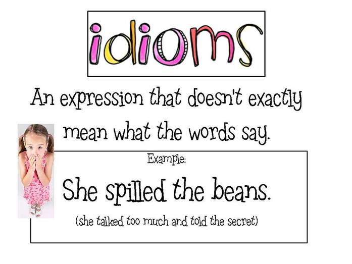 Idioms Mrs Warners Learning Community