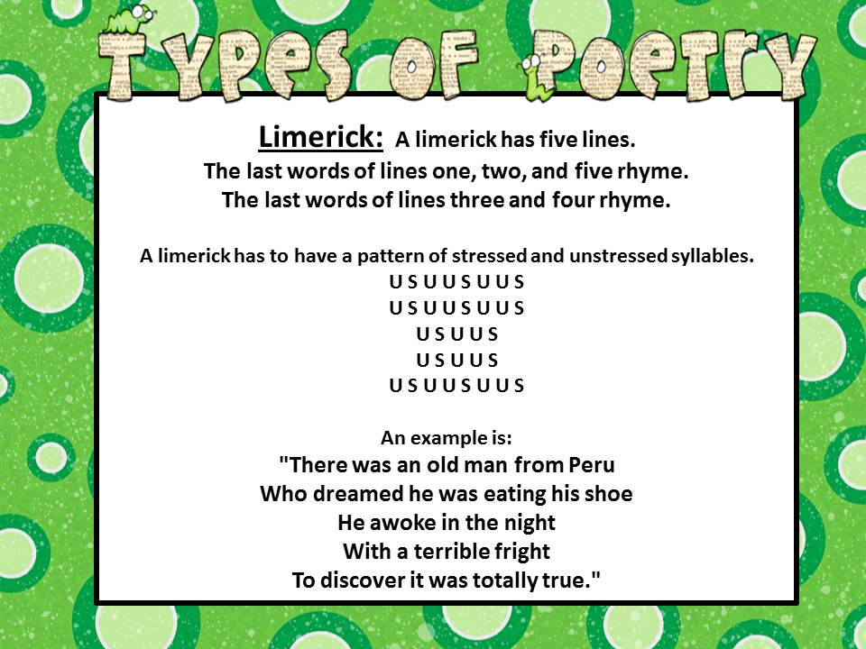 Poetry Mrs Warners 4th Grade Classroom – How to Write a Limerick Worksheet