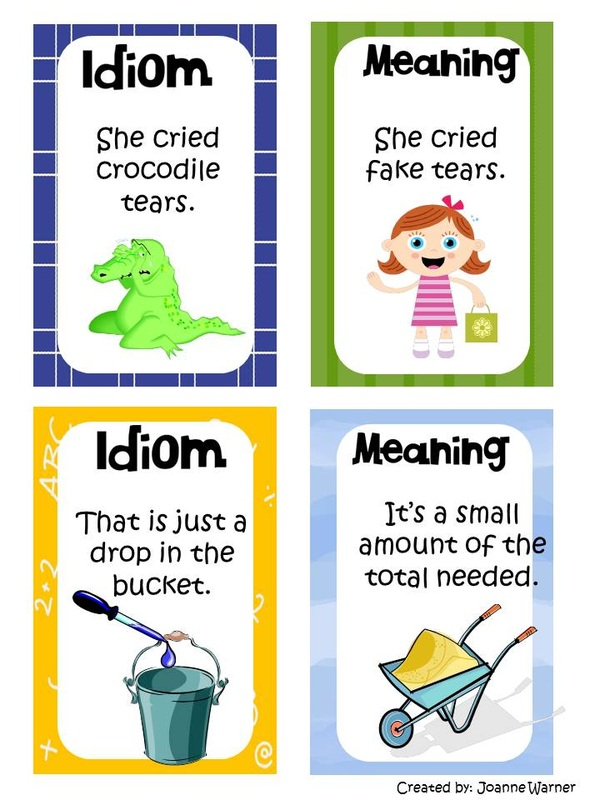 Idioms Mrs Warners 4th Grade Classroom – Idiom Worksheets 4th Grade