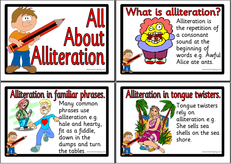 Alliteration  Mrs Warners 4th Grade Classroom