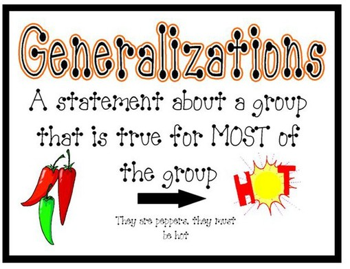 Making Generalizations - Mrs. Warner's 4th Grade Classroom