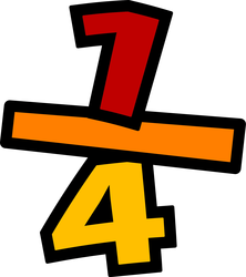 Picture of the fraction 1/4th.